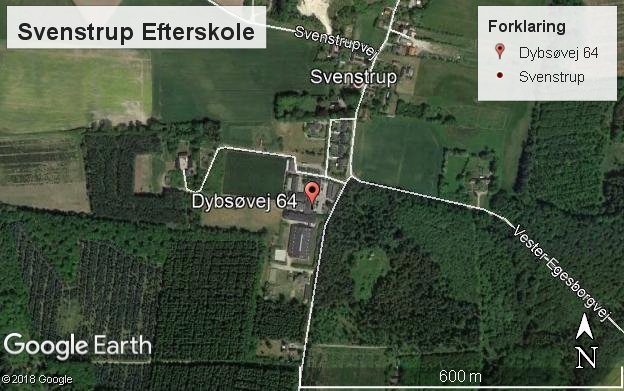 Klik for at se Svenstrup Efterskole på Google Maps